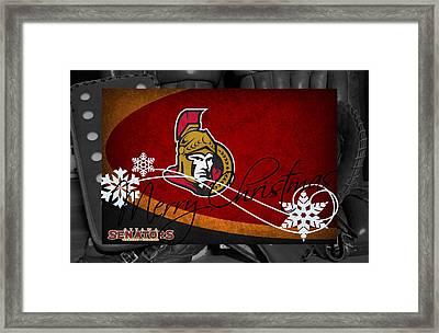 Ottawa Senators Christmas Framed Print