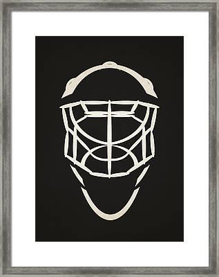 Ottawa Senators Goalie Mask Framed Print