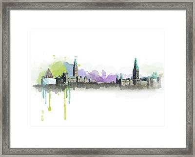 Ottawa Skyline 18 Framed Print by Mahnoor Shah