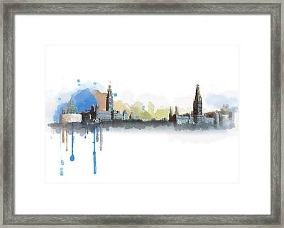 Ottawa Skyline 18b Framed Print by Mahnoor Shah