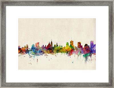 Ottawa Skyline Framed Print by Michael Tompsett