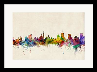 Ottawa Skyline Framed Prints