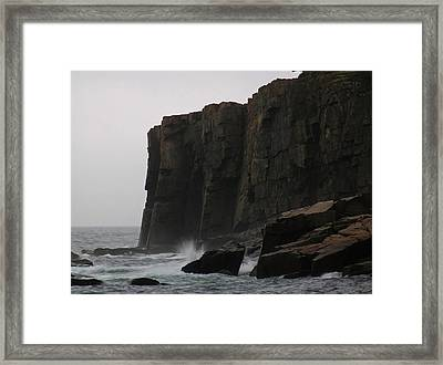 Otter Cliff Framed Print by Juergen Roth