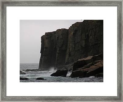 Otter Cliff Framed Print