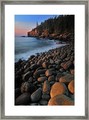 Otter Cliffs - Acadia National Park Framed Print by Thomas Schoeller