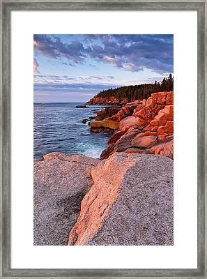 Otter Cliffs At First Light Framed Print