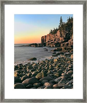 Otter Cliffs Framed Print by Jerry Fornarotto