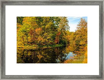 Otter Lake In The Fall Framed Print by Mark East