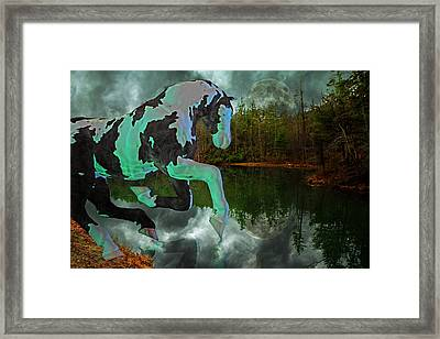Otter Lake Phantom Framed Print by Betsy Knapp