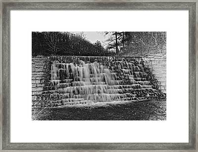Otter Lake Waterfall Blue Ridge Parkway Framed Print