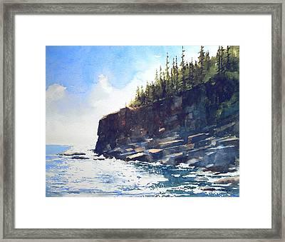 Otter Point Framed Print