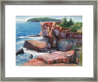 Otter Point_acadia_main Framed Print