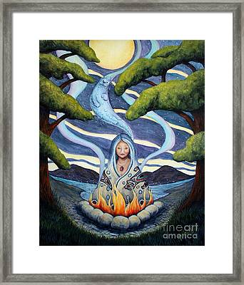 Otter Woman Find Your Joy Framed Print by Joey Nash