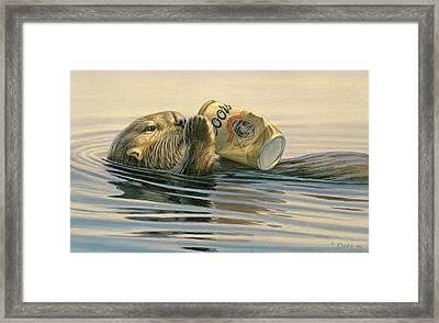 Otter's Toy Framed Print