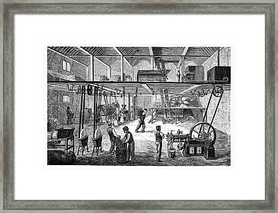 Otto Engine On A Farm Framed Print by Science Photo Library