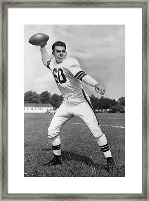Otto Graham Nfl Legend Poster Framed Print by Gianfranco Weiss