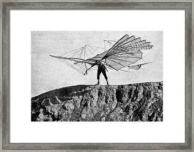 Otto Lilienthal And Glider Framed Print by Bildagentur-online/tschanz