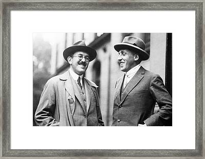 Otto Stern And Paul Scherrer Framed Print by Aip Emilio Segre Visual Archives, Segre Collection