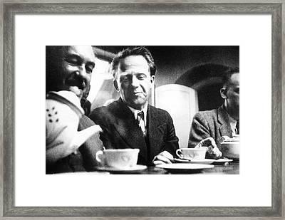 Otto Stern And Werner Heisenberg Framed Print