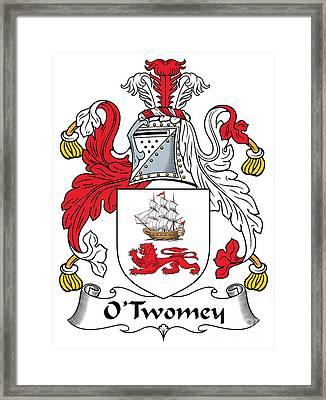 Otwomey Coat Of Arms Irish Framed Print by Heraldry