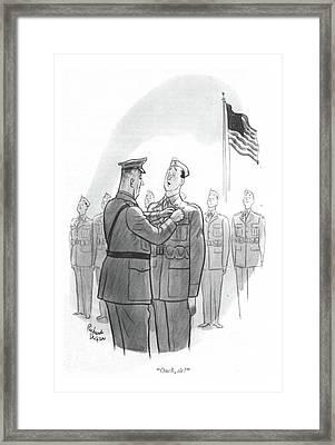 Ouch, Sir! Framed Print by Richard Decker