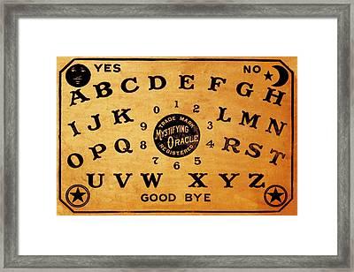 Ouija Board 3 Framed Print by Tony Rubino