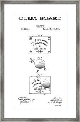 Ouija Board Patent Art -- 1891 Framed Print by Daniel Hagerman
