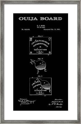 Ouija Board Patent Art 2  -- 1891 Framed Print by Daniel Hagerman