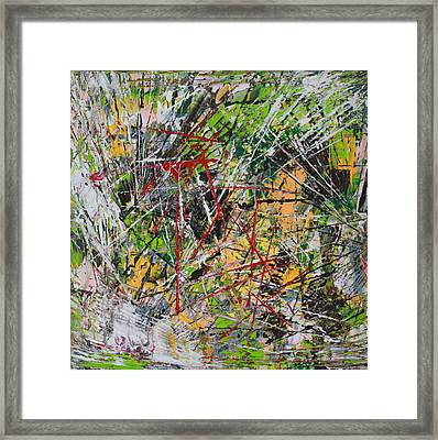Framed Print featuring the painting Oumph by Lucy Matta