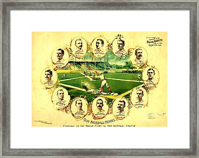 Our Baseball Heroes Framed Print by Pg Reproductions