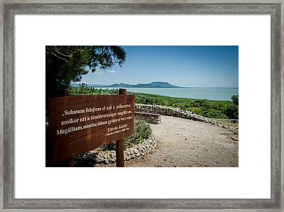 Our Beautiful Lake Framed Print by Gabor Fichtacher