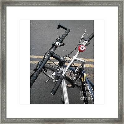 Our Bikes #cycling #bicycle Framed Print