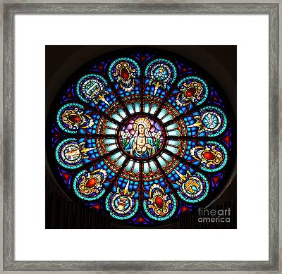 Framed Print featuring the photograph Our Blessed Mother by Debby Pueschel