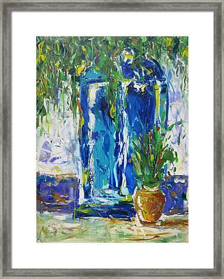 Our Blue Door Framed Print