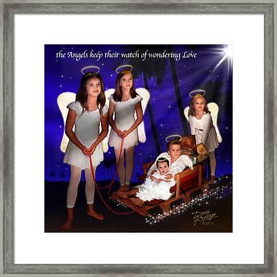 Our Christmas Angels Framed Print by Doug Kreuger