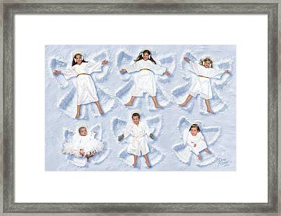 Framed Print featuring the photograph Our Christmas Snow Angels by Doug Kreuger