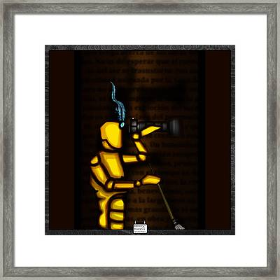 Our Conviction Framed Print by Eloy Tamez olguin