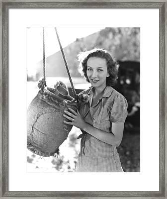 Our Daily Bread, Karen Morley, 1934 Framed Print