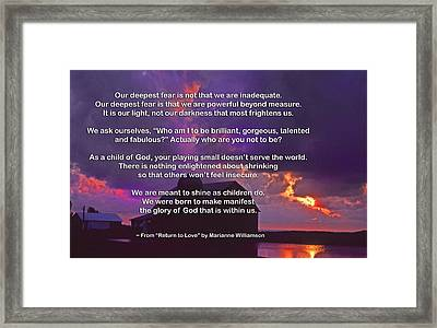 Our Deepest Fear 2 Framed Print