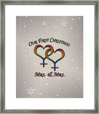 Our First Christmas Lesbian Pride Framed Print