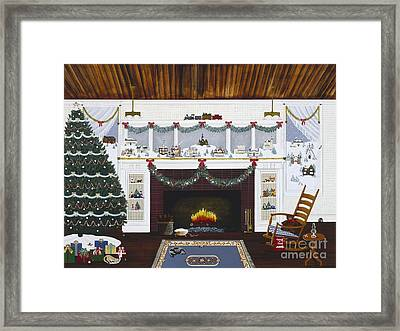 Framed Print featuring the painting Our First Holiday by Jennifer Lake
