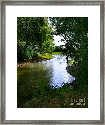 Framed Print featuring the photograph Our Fishing Hole by Peter Piatt