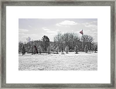 Our Flag Was Still There Framed Print by Tom Gari Gallery-Three-Photography
