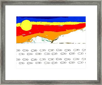 Footsteps In The Snow Framed Print by Patrick J Murphy