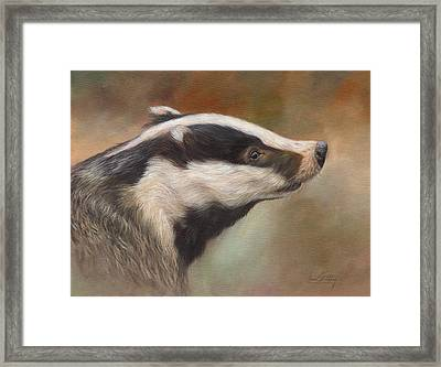 Our Friend The Badger Framed Print