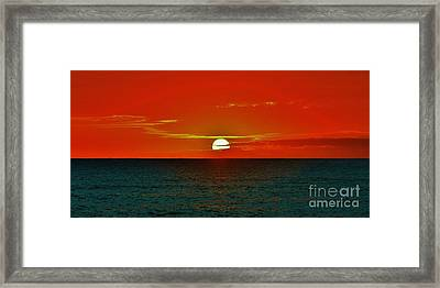 Our Glorious Sun Framed Print