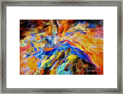 Our God Is A Consuming Fire Framed Print by Margie Chapman