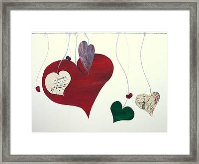 Our Hearts Beat For This World Framed Print