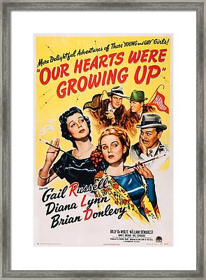 Our Hearts Were Growing Up, Us Poster Framed Print by Everett