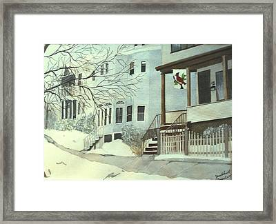 Framed Print featuring the painting Our House In Medford by June Holwell